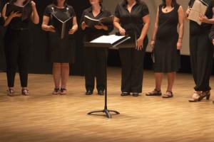 Coro con partituras